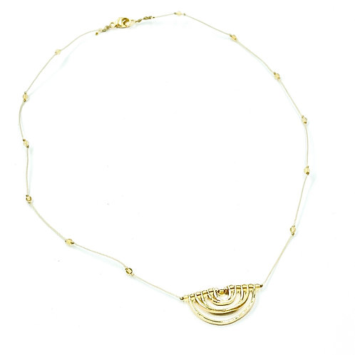 Citrine Stone Rainbow Necklace