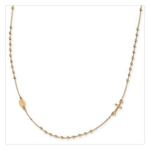 Notches Of Faith Rosary Necklace