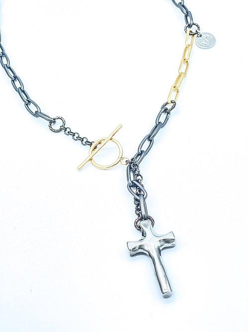 Handmade Titanium Cross Necklace (unisex)