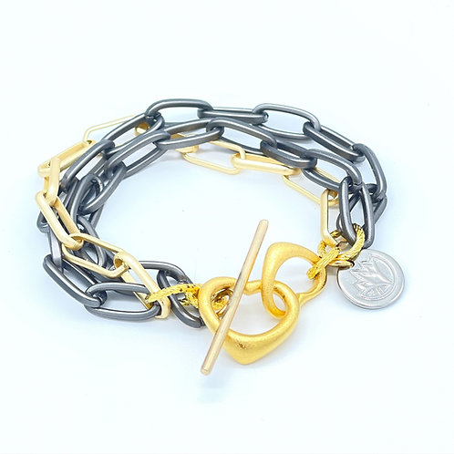 Chained to the Heart Bracelet