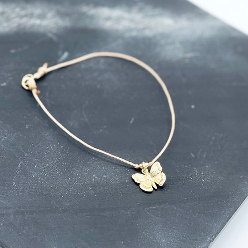 """We can do hard things"" Butterfly Layer Bracelet."