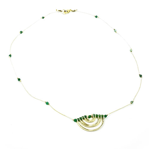 Jade Stone Rainbow Necklace