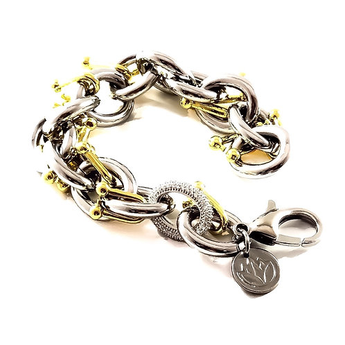 Chain Reaction Statement Bracelet