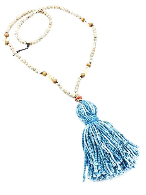 Sandalwood Mala Tassel Necklace