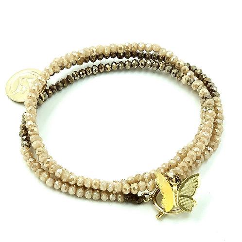 * SINGLE STRAND Ombré Swarovski Crystal wrap bracelet 2020