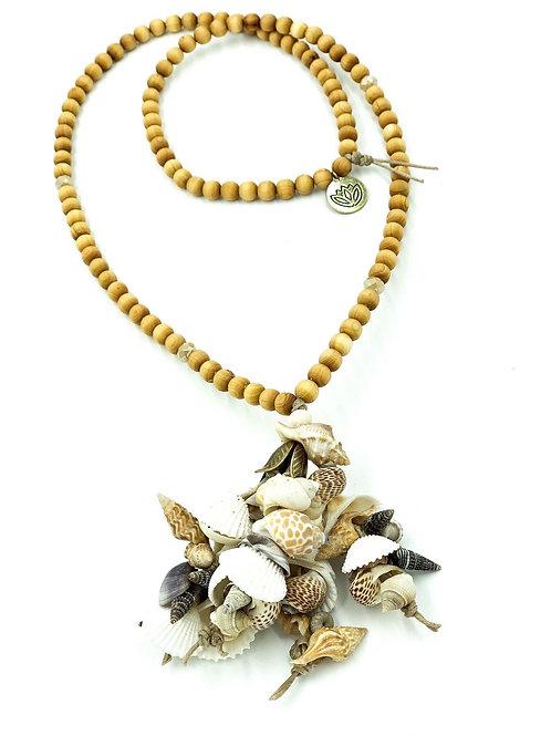 Natural Calmness, Seashell Mala Necklace