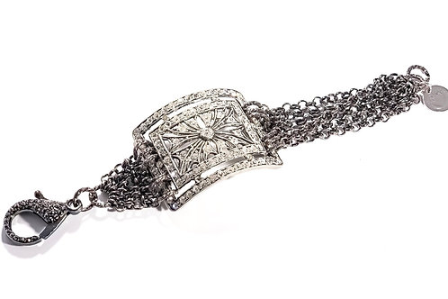 Endless Sparkle , Vintage Statement Bracelet