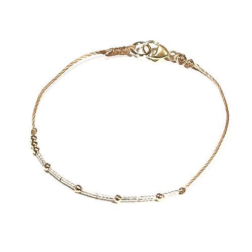 Custom Morse Code Corded Bracelet