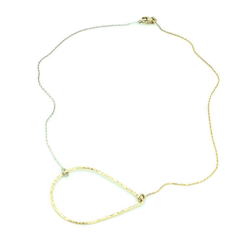 Tears in Heaven two tone layer necklace