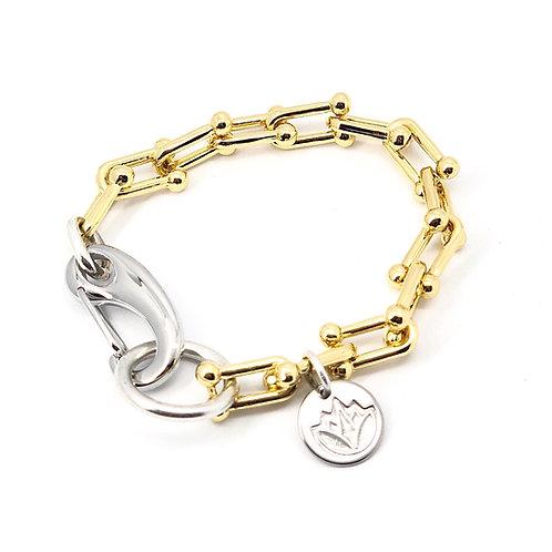 U-link Two Tone Bracelet