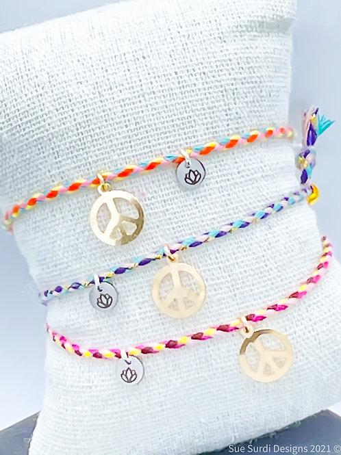 Colorful Peace Camp Bracelet