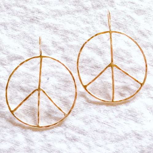 "Large 1.5"" Peace of Mind Earrings (Gold)"