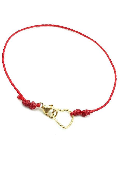 The mini heart red string bracelet