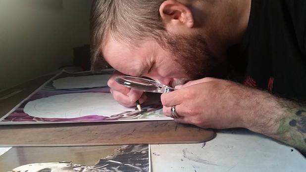 William Wyman at work