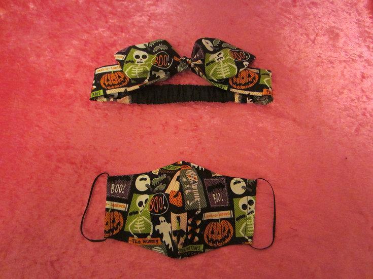 Adult Headband/ Mask Matching Sets - Choose your Print