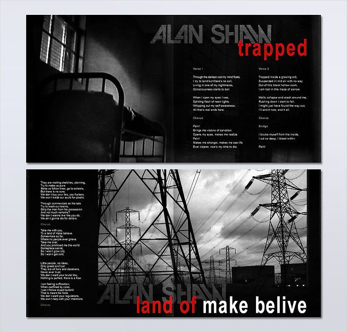 Alan Shaw, the Keep (2010). Logotype, album packaging and brochure