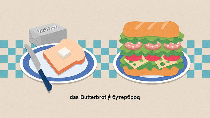 "Illustration for the article ""Was für typische Anfängerfehler Machen Deutsche, wenn sie Russisch lernen?"" (""What are the typical beginner mistakes that Germans make when they learn Russian?"" Babbel Magazine.""How to spot the Brazilian speaking French"", Babbel Magazine."