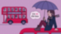 """Illustration for the article """"5 Anfängerfehler, die du auf Englisch machst"""" (""""5 rookie mistakes that you make in English""""). Prepositions: in the bus vs. on the bus. Babbel Magazine."""