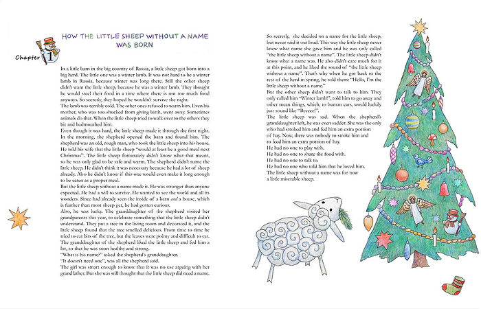 """The Little Sheep without a Name"" by Kat Sperling. Illustrations and book layout design."
