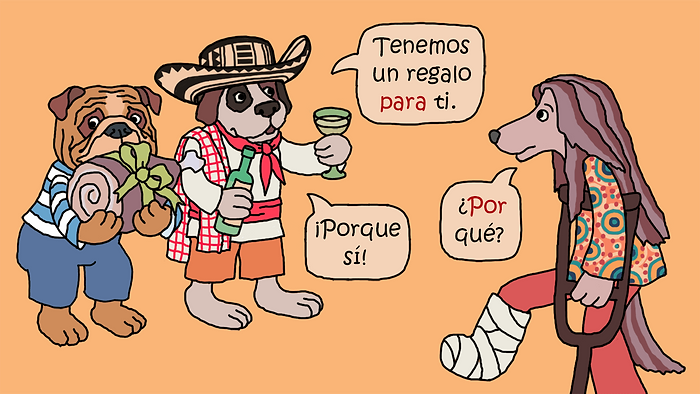 "Illustration for the article ""5 typische Anfängerfehler, die Deutsche auf Spanisch machen"" (""5 typical beginner mistakes that Germans make in Spanish""). Babbel Magazine."