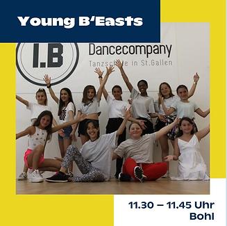Jungkult St. Gallen; Tanzauftritt Young Beasts; I.B. Dance Company