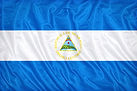 Nicaragua flag pattern on the fabric tex