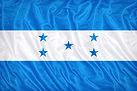 Honduras flag pattern on the fabric text