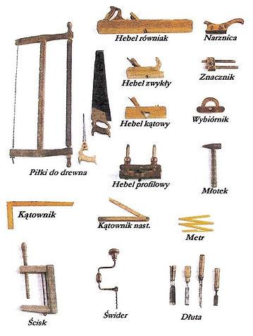 podstawowe narzędzia stolarskie