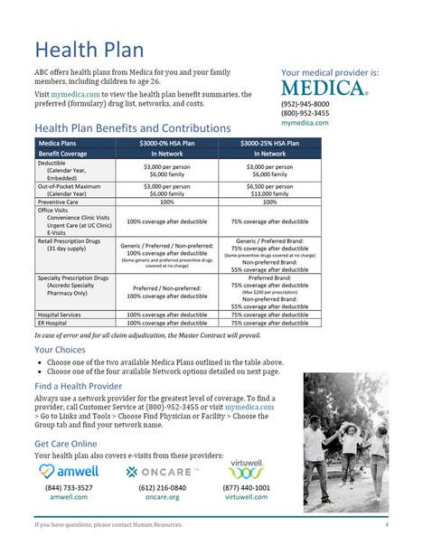 Insurance Benefits Manual Templates