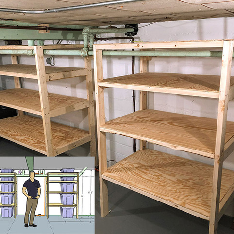 Custom Storage Shelves