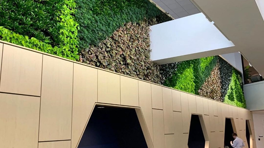 "Love the way they introduced the green wall in the overall design. ""Biophilic design requires integrating design interventions that connect with the overall setting or space"" via our partners @gskyplantsystems"