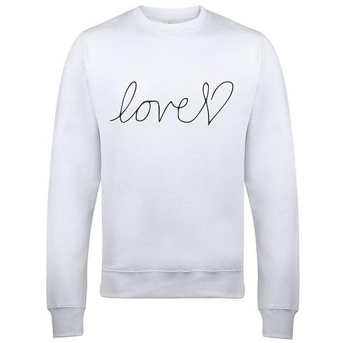 Love Heart Adults Sweatshirt