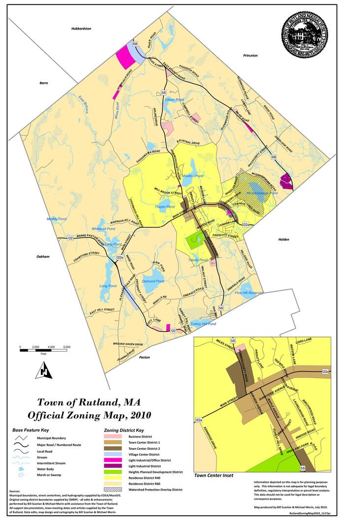 Rutland Zoning Map