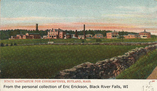 State Sanitarium for Consumptives at Rutland, Postcard