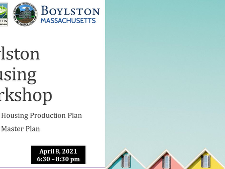 Thank you for attending the Boylston Housing Workshop!