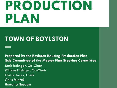 Housing Production Plan Approved by DHCD