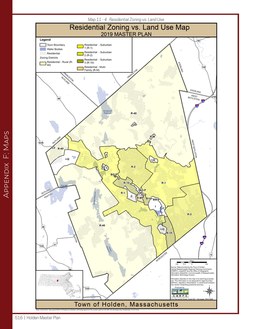 Residential Zoning Compared to Residential Land Use