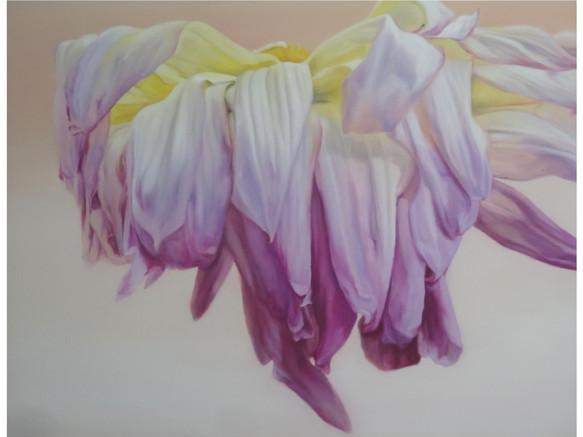 Dahlia rose & jaune
