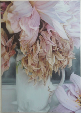 Dahlias roses Still Life