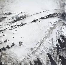 Un voyage d'hiver n°10, pierre noire et lavis d'oxydes sur papier - 2019 - 98x98cmun voyage d'hiver - 10.jpg