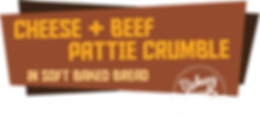 Cheese + Beef Pattie Crumble Sandwiches in your Frozen Aisle