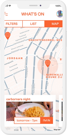 Niluk Map view. Discover personal events around you.