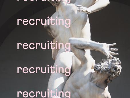 recruiting, recruiting, recruiting