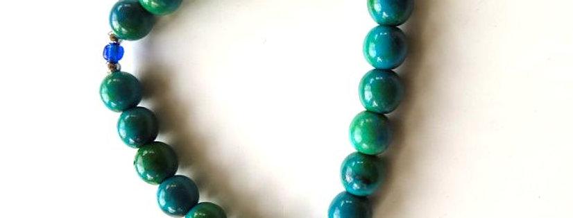 Turquoise Dyed Bead Bracelet