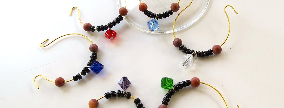 Biconed Wine Charms