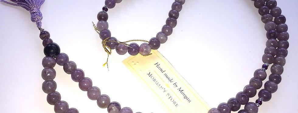 Lilac Stone 108 Bead Mala