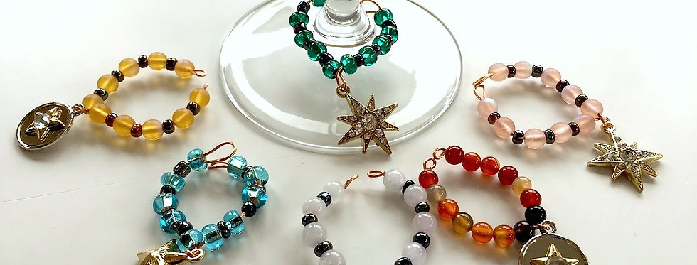 Star Themed Wine Charms