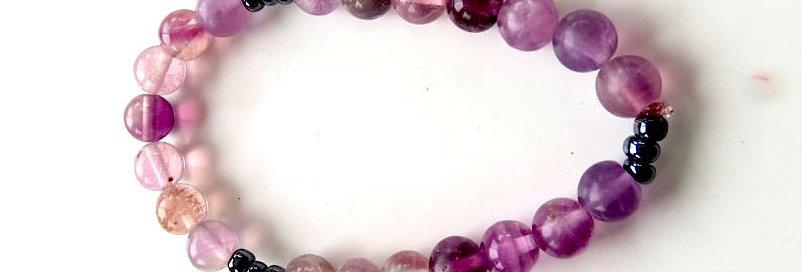 Purple Fluorite Bracelet