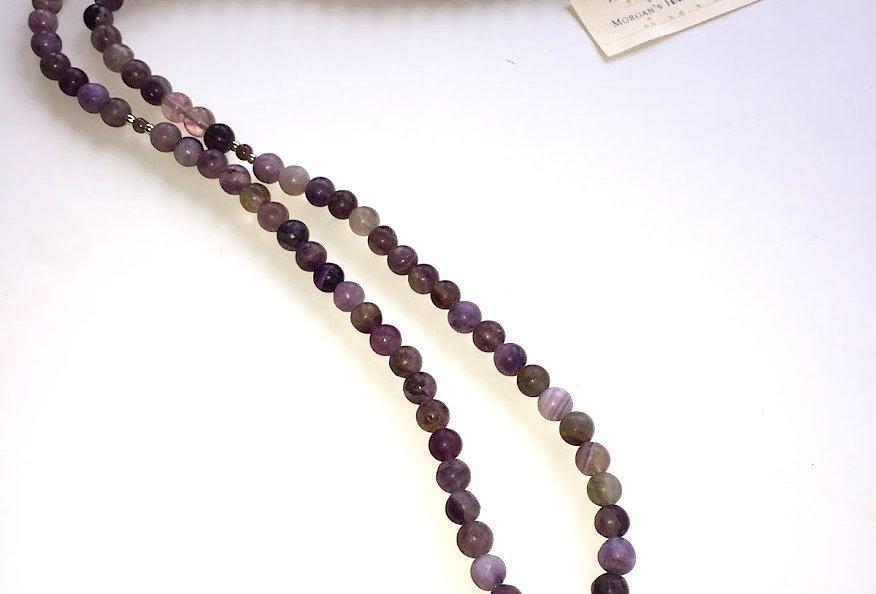 Purple Fluorite 108 Bead Mala