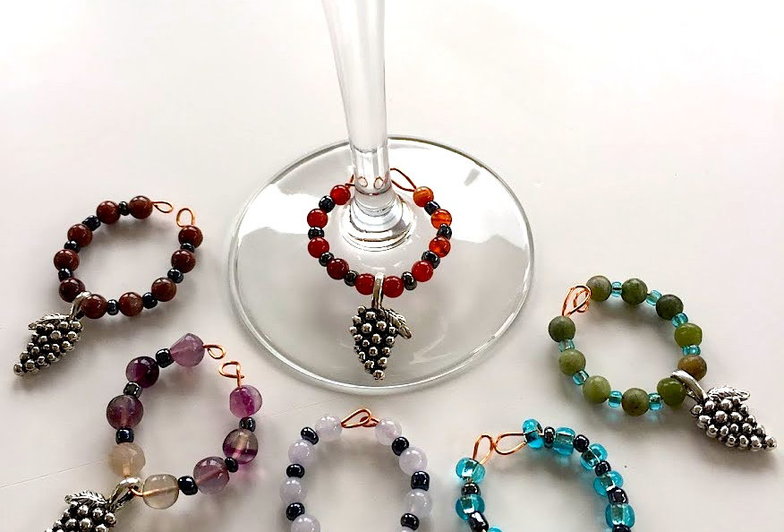 Grape Themed Wine Charms